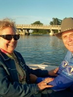 Janet Chester Bly and Stephen Bly at Michigan Lake
