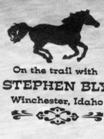 On the trail with Stephen Bly, Winchester, Idaho, t-shirt