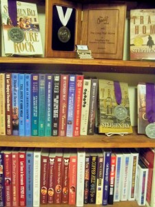 About Bly Books: bookshelf of award books