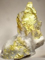 quartz gold in rock