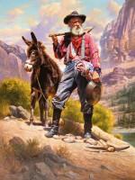 prospectors with beard & mule