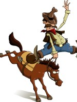 losing your hat or getting bucked off?